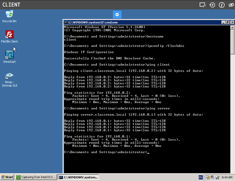 Working with hostnames - Command Prompt